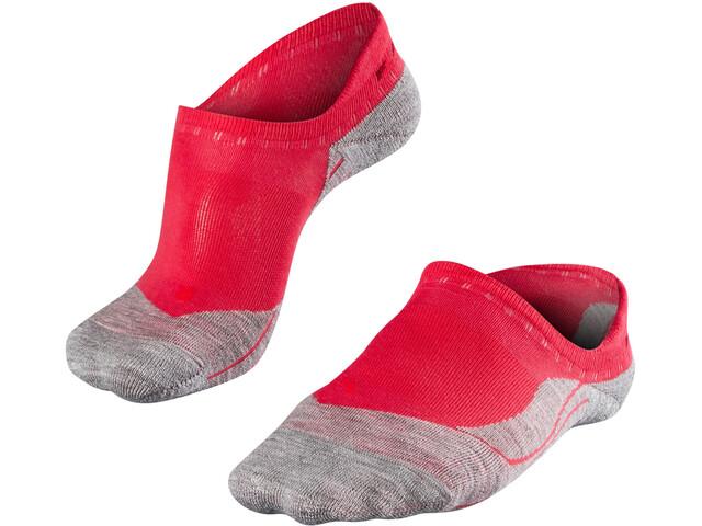 Falke RU4 Invisible Hardloopsokken Dames grijs/rood